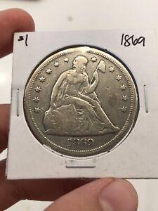 1869 Seated Liberty Silver Dollar $1 - VF