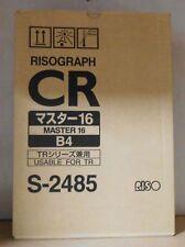 Riso Risograph S-2485 Master 16 Risograph CR B4  CR 1630 1630 EP OVP A