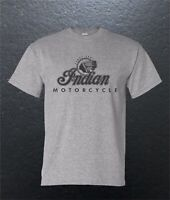 Indian Motorcycle Word Head Vintage Classic American T-Shirt Blend S M L XL