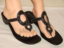 Naturalizer Womens Black Leather Slide Flip Flop Sandal Shoe - Size 10M