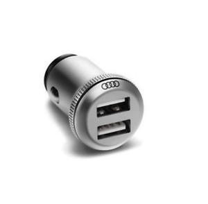 Audi Aluminium Dual Ladeadapter USB-Adapter 12V-Steckdose 2,4 8X0051443