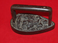 ANTIQUE RARE UNKNOWN CAST IRON FIGURAL MAN AND WOMAN SAD IRON FLAT IRON