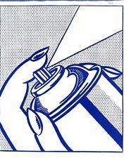 """Roy Lichtenstein """"SprayCan"""" litho OneCentLife 1964 mint 2nd pop print ever made"""
