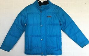 Patagonia Boy's Large (12) Down Navy Blue Bivy Down Hoody Winter Jacket