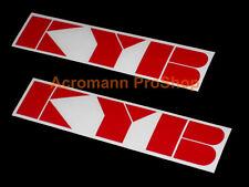 "2x 6""15.2cm KYB decal sticker JDM gas shock suspension kayaba rally helmet vinyl"