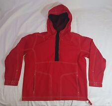NIKE Womens Red 1/2 button Pullover Hoodie Cotton/Polyester  Size M(8-10)
