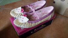 scarpe scarpa ballerina hello kitty bianca rosa usate 35 ragazza bambina
