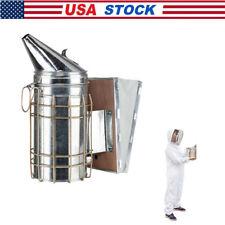 Bee Hive Smoker Stainless Steel Calming Beekeeping Equipment Withheat Shield
