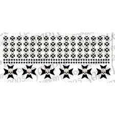 Ginfritter's WARCRO018 Tactical Iron Cross Decal Black & Skull Warhammer