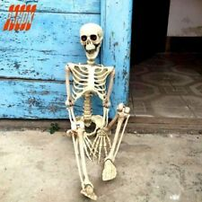 Human Skeleton Bones Real Life Size Hanging Halloween Props Decoration House KY