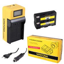 Batteria Patona + caricabatteria Synchron LCD USB per Minolta Dynax 7d,Maxxum 5d