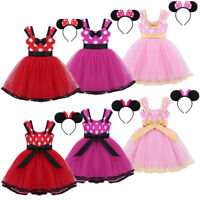 Girl Kids Baby Princess Birthday Dress Party Polka Dot Tutu Fancy Costume Outfit