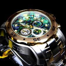 Invicta Pro Diver Scuba Blue Abalone Steel Two Tone Chronograph 48mm Watch New