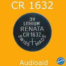 2PC RENATA CR1632 Lithium Battery 3V - Swiss Made