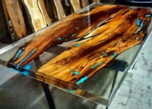 Epoxy Table Live Edge River Table Resin Epoxy Table Wooden Dining Furniture A006