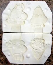 Unbranded #557 Two Christmas Ornaments Ceramic Mold (C39)
