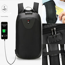 Anti-theft Backpack USB Port Water Repellent Charging Travel Laptop School Bags