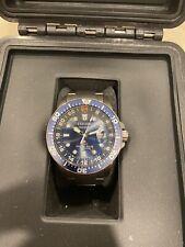 Citizen Promaster Diver Titanium ECODRIVE BJ7111-51M GMT 200M Blue Rare!