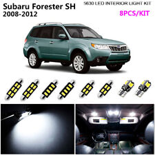8Lamps Xenon White 6000K Interior Light Kit LED For 2008-2012 Subaru Forester SH