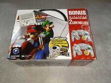 New Nintendo GameCube Platinum Console Mario Kart Double Dash Bonus Set