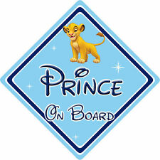 Disney Prince On Board Car Sign - Baby On Board - Lion King Simba