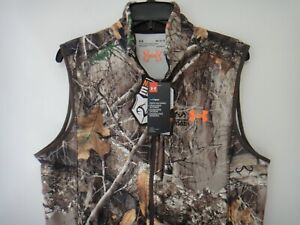 Under Armour Mens Coldgear Vest Realtree edge Hunting Scent Control Fitted MD