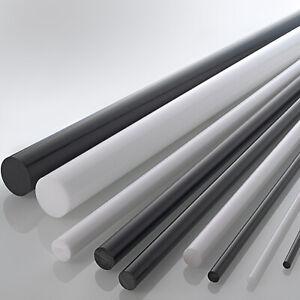 POM Rundstab schwarz /Ø 20mm L: 500mm 50cm Kunststoffstab auf Zuschnitt