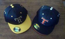 1 Hat RICHARDSON FITTED HAT SIZE 7 1/8 BLACK ORANGE T & SIZE LRG/XL W/ YELLOW T