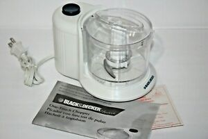 Black & Decker Home 1.5 Cup One Touch Electric Chopper White Model HC306