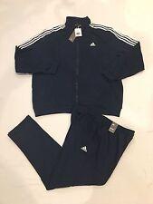 NEW Men's Adidas Track Suit /Pant & Jacket Set (BK4075) Navy & White - Size 2XL