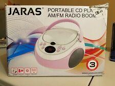 Jaras JJ-Box89 Pink/Wht Sport Portable Stereo CD Player w/AM/FM Radio FREE SHIP