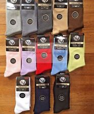 6 Pairs 2-8 Premium Quality Pure Cotton Plain School Socks Dress/Work Socks