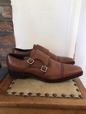 Barker Lancaster Double Monk Strap Shoes Size 7 (FX Medium Fitting) - Rosewood