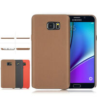For Samsung Galaxy S6/S6 Edge Plus Note 5 Shockproof PU Leather Slim Hard Case