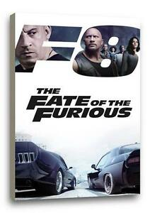 """FAST AND THE FURIOUS 8 CANVAS Fate Photo Poster Print Pic Wall Art """"30x20 CANVAS"""