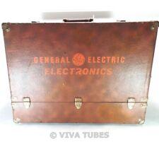 Large Brown GE Vintage Radio TV Vacuum Tube Valve Caddy Carrying Case