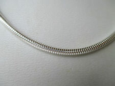 "UK Jewellery 18"" x 3 mm 925 Sterling Silver Snake Necklace Locket Pendant Chain"