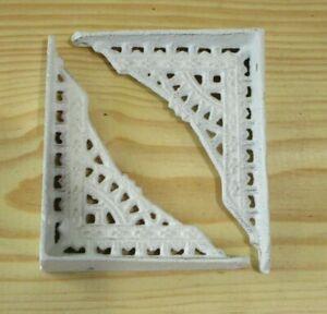 12 Shelf Braces Wall Brackets Cast Iron SMALL 5 x 4 Corbels Distressed White