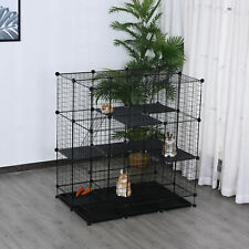 Large Metal 3 Level Pet Cage for Ferret Chinchilla w/ Doors Bottom Trays