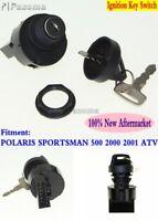 Motorcycle Ignition Switch Lock Key Set Fits Polaris Sportsman 500 2000 2001 ATV