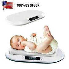 44 Lbs Digital Baby Scale Infant Weight Scale Electronic Pet Cat Dog Scale White