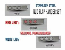 Stainless Steel Mud Flap Hanger set w/ Dual Function (57 LED ea) Lights - 2.5""