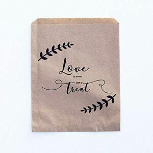 Sweet Bags Love is Sweet Take a Treat Bag Leaf Wreath Design Set of 10