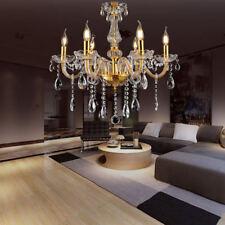 6 Beleuchtung LED Kronleuchter Hängeleuchte Deckenlampe Klassisch Golden Lüster
