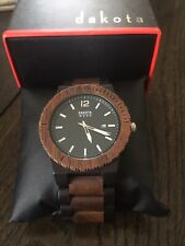 Dakota Analog Quartz Watch With Wood Strap Black/Brown Model 26342