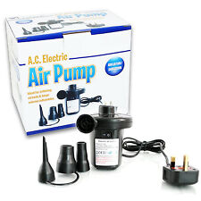 UKHS 240v ELECTRIC AIR PUMP FOR TOY POOL AIRBED CAMP BLOW UP BED LILO AIR PUMP