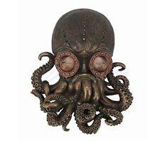 Steampunk Octopus Sculpture Wall Plaque Statue Figurine