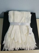 NWT NY&C Women's Scarf and Glove Gift Set Ivory New York & Company.One Size