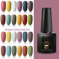MTSSII 6ML Soak Off UV Gel Nail Polish Pure Color Varnish Manicure Winter Series
