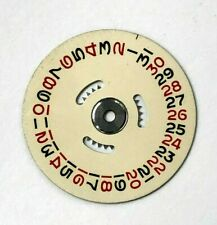 Genuine Rolex 1030 1035 Date Disk w/ Red & Black Numbers